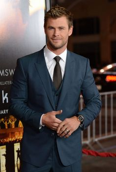 Chris Hemsworth at the Los Angeles premiere of 'Blackhat' at the TLC Chinese Theatre in Hollywood, California on January 8, 2015.