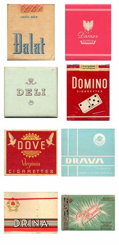世界150カ国のビンテージなタバコのパッケージデザイン160選 - DNA