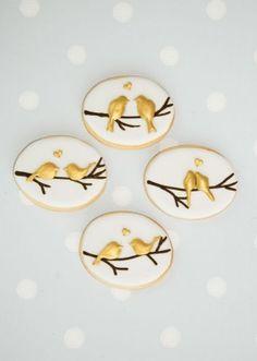 Birds on Branch, very cute love bird cookies from Anna Tyler cakes.