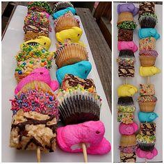 Peeps, Rice Krispie Cookies, cupcakes.