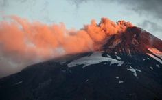 Smoke and lava spew from Chile's Villarrica Volcano at the end of March. - REUTERS/Cristobal Saavedra