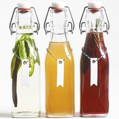 These bottled syrups are perfect for adding flavor to cocktails and drinks. We're giving you the recipe for vanilla-jalapeno and pomegranate-rosemary./