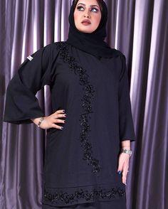 Image may contain: 2 people Modest Fashion Hijab, Abaya Fashion, Muslim Fashion, New Abaya Style, Modern Abaya, Arabic Dress, Abaya Designs, Hijab Outfit, Fashion Shoot