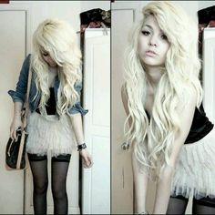 Pretty soft blonde long hair