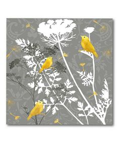love the colors...Gray & Gold Finch I Canvas