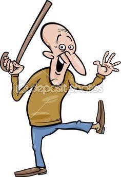Senior s holí kreslený obrázek — Stocková ilustrace #47539793 Funny Birthday Jokes, Funny Work Jokes, Work Humor, Funny Old People, Angry People, Cartoon People, Funny Animals, Disney Characters, Fictional Characters