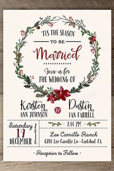 18 Elegant Winter Wedding Invitations ❤️ See more: http://www.weddingforward.com/winter-wedding-invitations/ #wedding #invitations