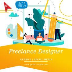 Freelance Website Designer In Chandigarh - Gurbir Singh Social Media Pages, Freelance Designer, Chandigarh, Web Design, India, Website, Design Web, Goa India, Website Designs