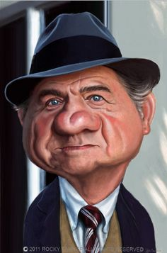 [ Karl Malden ]  - artist: Rocky Sawyer - website: http://rockysawyer.blogspot.com
