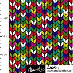 ZNOK Granny Knitting Autumn Multi, Bio-Jersey, 21,90 EUR / Meter - Bild vergrößern Curtains, Shower, Knitting, Fabric, Prints, Design, Autumn, Tricot, Cotton