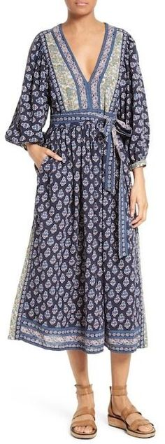 Rebecca Taylor Indienne Cotton Midi Dress