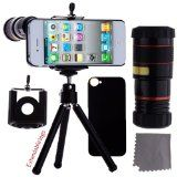 iPhone 5 Camera Lens Kit including Telephoto Lens / Fisheye Lens / Macro Lens / Wide Angle Lens / Mini Tripod / Universal Phone Holder / Hard Case for iPhone 5 / Velvet Phone Bag / CamKix® Microfiber Cleaning Cloth – Awesome Accessories and Attachments Best Smartphone Camera, Iphone Camera Lens, Smartphone Hacks, Camera Accessories, Cell Phone Accessories, Used Iphone, Iphone Cases, Buy Iphone, 5s Cases