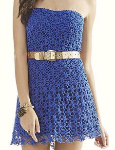Receitas Círculo - Vestido Tomara que Caia Azul