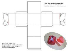 Bersatu Di Sini: Gift Box with love and butterfly shape design
