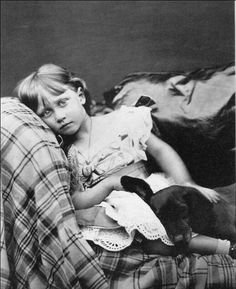 "A sweet portrait of Princess Louise, the Princess Royal, eldest daughter of Prince Albert, aka ""Bertie"" and his wife Princess Alexandra."
