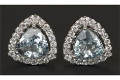 A pair of 18ct white