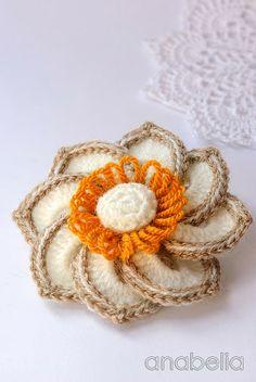 Crochet flower by Anabelia