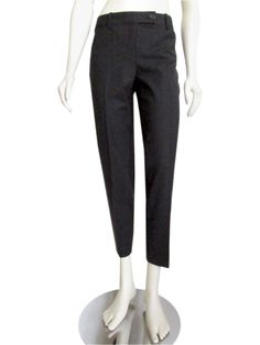 The key to minimalist dressing is a great cut and precision tailoring. Theory strives to design just that with these straight-cut pants they are designed to be your new favorite-fitting pair. Styling includes a low rise with zip fly and extended tab closure, slant pockets at the hips, dual button down welt pockets in the back, and a straight cut leg with a cropped 27.5