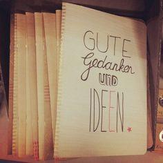 Gute Gedanken und Ideen - Notizbuch