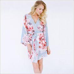 Kimono Style. Knee Length Robe. Oceane Lulls the Billows.