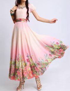 Maxikleider - Sommer-Urlaubsparty Lang Swing-Kleid - ein Designerstück von ChineseHut bei DaWanda