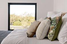 #masterbedroom #bedroom #cushions #bedlinen #blackwindowframe