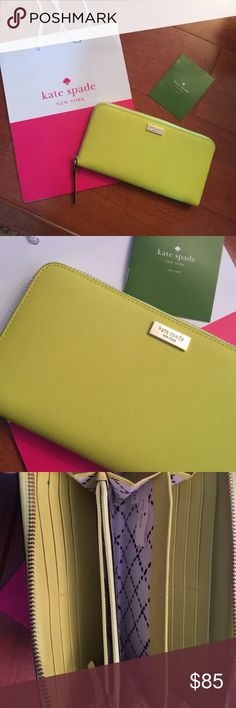 kate spade large wallet New! kate spade large wallet.... beautiful bright color! kate spade Bags Wallets