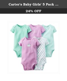 Carter's Baby Girls' 5 Pack Bodysuits (Baby) - Purple - 9M. Carter's 5 Pack Bodysuits (Baby) - Purple Carter's is the leading brand of children's clothing, gifts and accessories in America, selling more than 10 products for every child born in the U.S. Their designs are based on a heritage of quality and innovation that has earned them the trust of generations of families.