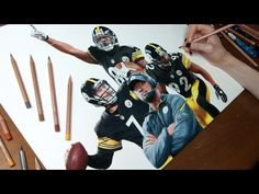 This Artist Draws The Most Realistic Portrait Of The Pittsburgh Steelers