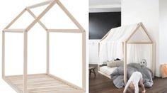 Come arredare la cameretta dei bambini in modo originale? Ad esempio con un bellissimo letto in legno a forma di casetta.