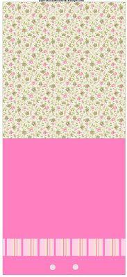 Provençal Rosa Floral – Kit Completo com molduras para convites, rótulos para guloseimas, lembrancinhas e imagens! |Fazendo a Nossa Festa