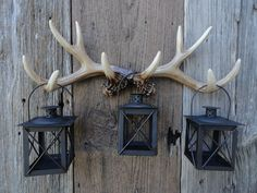 Neat accessories for our rustic/outdoor themed rooms... Wall Antlers Faux Taxidermy Deer Antler Wall Rack by JUNKINTIME, $52.00