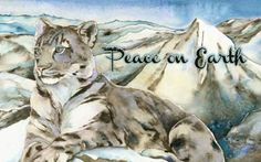 Jackie Morris Snow Leopard Holiday Card (Set of 12)
