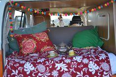 My Gypsy soul avec mon plaid #mypoca et mon thé à la menthe. #caravane