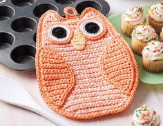 Crochet Potholders & Dishcloths - When you need a quick and easy gift or want to spice up the kitchen, why not crochet a cotton potholder or dishcloth? The fun designs in Potholders and Dishcloths by Rita Weiss will not only add a bit of delightful décor, but they are also wonderfully practical. Featuring cotton crochet thread in sizes 3 and 10 and worsted weight cotton yarn