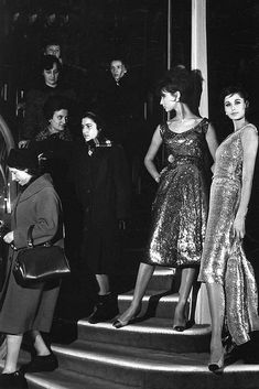 Models in Chanel evening dresses, Paris, 1960.