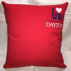 A personal favorite from my Etsy shop https://www.etsy.com/listing/497950185/dayton-ohio-university-tshirt-pillow