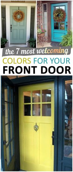 The 7 Most Welcoming Colors for your Front Door. Diy diy home projects home dÃcor home dream home diy projects home improvement inexpensive home improvement cheap home diy. - March 23 2019 at Inexpensive Home Decor, Cheap Home Decor, Diy Home Decor, Home Improvement Projects, Home Projects, Home Renovation, Home Remodeling, Kitchen Remodeling, Diy Casa
