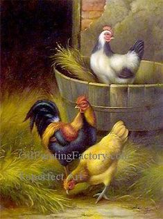 Buy animal fowl oil painting reproduction from Toperfect's artists in reasonable prices; our painters are famous for animal fowl paintings for sale, landscape art, portrait from photos, wall decor pictures, and more paintings on canvas. Farm Paintings, Paintings For Sale, Pasture Fencing, Fence, Cartoon Chef, Duck Art, Portraits From Photos, Wall Decor Pictures, Chickens And Roosters