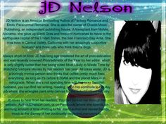 ****Day 22 of 31 Authors in 31 Days****  I am getting to know this gorgeous Author and she is FABULOUS ! I would like to introduce to you JD Nelson ! JD has a spectacular sense of humor and writes amazing Fantasy and Paranormal Series !  Stop by today, leave her a question or two on the pinned posts, check out her books, and enter the giveaways !  https://www.facebook.com/events/775851645828003/