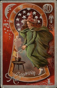 Halloween witch Keyhole