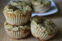 Zucchini Muffins! Gluten free, no sugar or flour, high protein, and delicious!