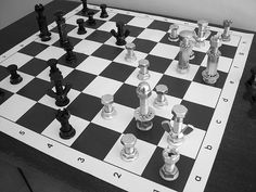 hardware chess set.