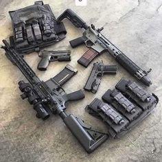 Tactical guns and gear