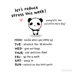 Let's reduce stress this week!