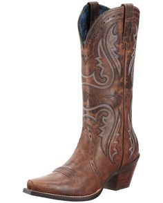 Ariat-Women's Heritage Western X Toe Boot - Sassy Brown