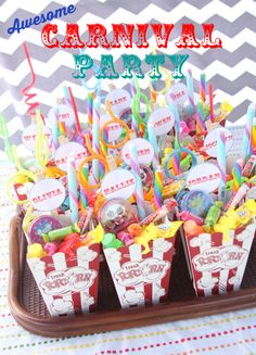 Carnival Party Ideas- I want to do this for B next year.