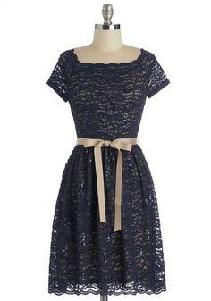 Blue Romance Dress | Mod Retro Vintage Dresses | ModCloth.com by ModCloth on CurvyMarket.com