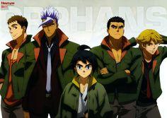 Sunrise (Studio), Mobile Suit Gundam: Iron-Blooded Orphans, Norba Shino, Eugene Sevenstark, Akihiro Altland Orga Itsuka, Mikazuki Augus, Royal Oak Offshore Chronograph, Cosmic Boy, Blood Orphans, Gundam Iron Blooded Orphans, Gundam Wallpapers, Tokyo Ravens, Gundam Art