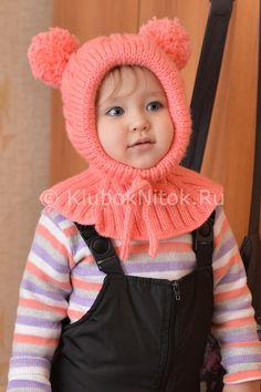 Шапочка-шлем с косами для малышки | Вязание для девочек | Вязание спицами и крючком. Схемы вязания.